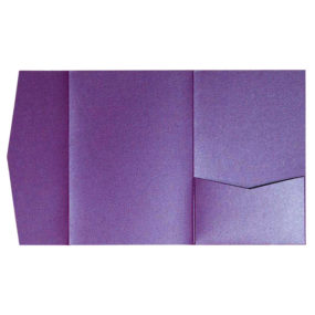 nillie Pocketfolds (Side 13x18), Lila-Metallic