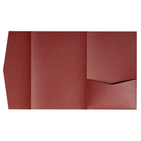 nillie Pocketfolds (Side 13x18), Marsrot-Metallic
