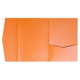nillie Pocketfolds (Side 13x18), Orange-Metallic