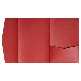 nillie Pocketfolds (Side 13x18), Rot-Metallic