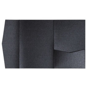 nillie Pocketfolds (Side 13x18), Schwarz-Metallic