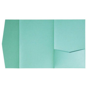 nillie Pocketfolds (Side 13x18), Türkis-Metallic