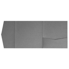nillie Pocketfolds 15x15 cm, Anthrazit-Grau (Metallic)