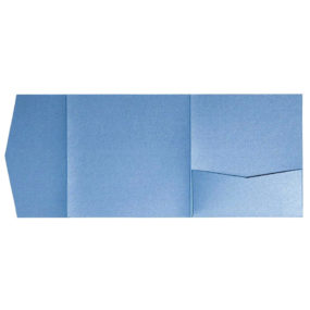 nillie Pocketfolds 15x15 cm, Azurblau (Metallic)