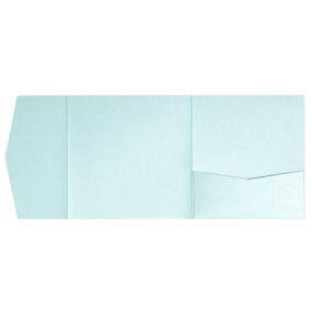 nillie Pocketfolds 15x15 cm, Eisblau (Metallic)