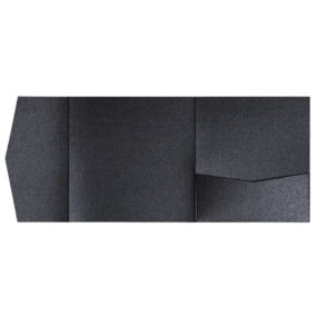 nillie Pocketfolds 15x15 cm, Schwarz (Metallic)