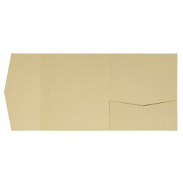 Kraft-Pocketfolds Signature Side 15x15, Hellbraun