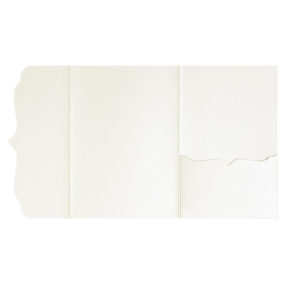 Pocketfolds von nillie kaufen: Bracket-Serie 13x18 in Ivory-Metallic