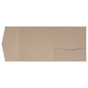 Pocketfold-Rohlinge aus Recyclingpapier (Signature Side 15x15, Eco-Braun)